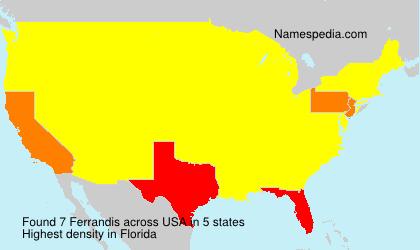 Surname Ferrandis in USA