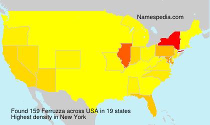 Surname Ferruzza in USA