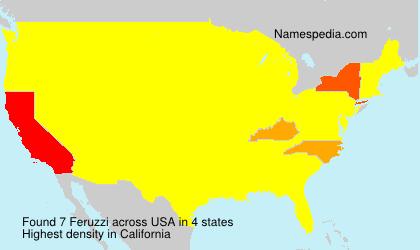 Surname Feruzzi in USA