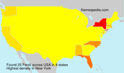Surname Ferzli in USA