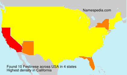 Surname Festinese in USA