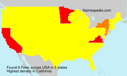 Surname Feter in USA