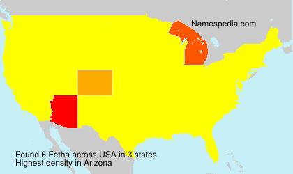 Familiennamen Fetha - USA