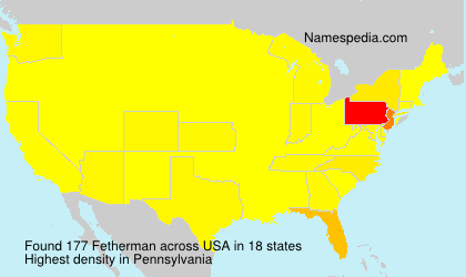 Surname Fetherman in USA
