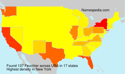 Surname Feuchter in USA