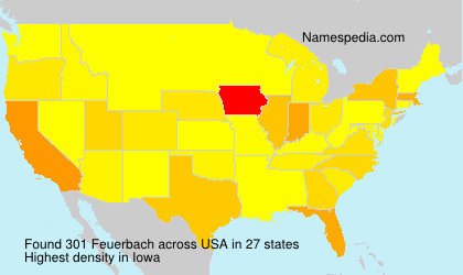 Surname Feuerbach in USA