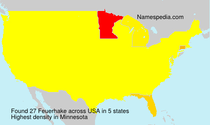 Surname Feuerhake in USA
