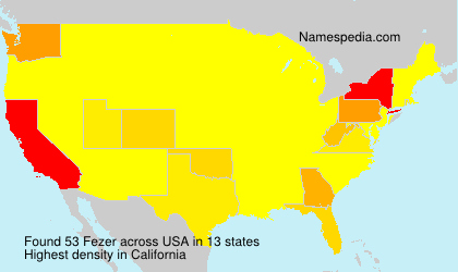 Surname Fezer in USA