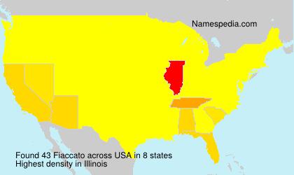 Familiennamen Fiaccato - USA