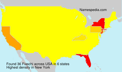 Surname Fiaschi in USA