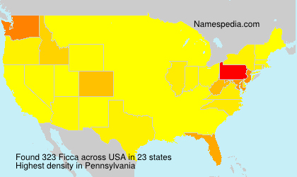 Surname Ficca in USA