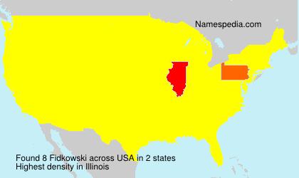 Surname Fidkowski in USA