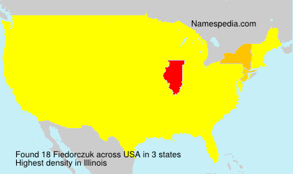 Surname Fiedorczuk in USA