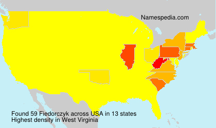 Surname Fiedorczyk in USA