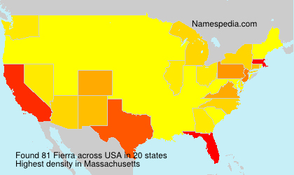 Surname Fierra in USA