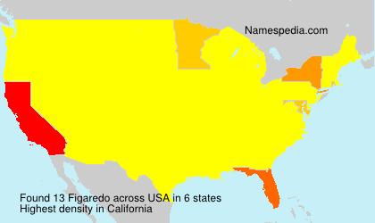 Familiennamen Figaredo - USA