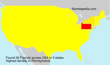 Familiennamen Figorski - USA
