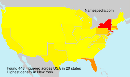 Surname Figuereo in USA