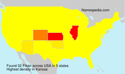 Surname Fikan in USA