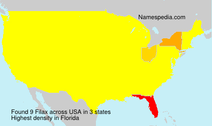 Surname Filax in USA