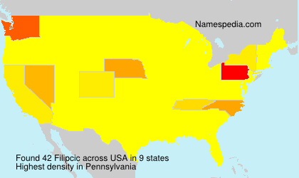 Surname Filipcic in USA