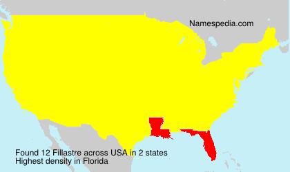 Surname Fillastre in USA