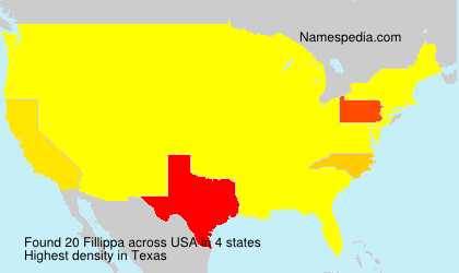 Surname Fillippa in USA