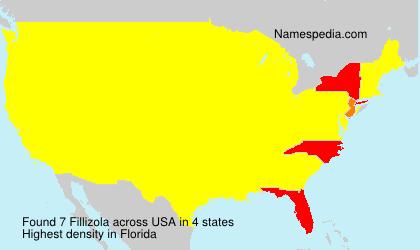 Surname Fillizola in USA