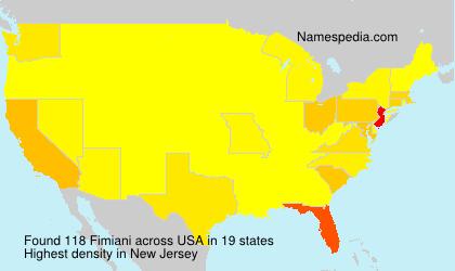 Familiennamen Fimiani - USA