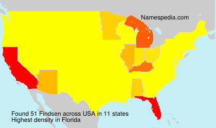 Surname Findsen in USA