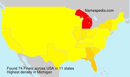 Familiennamen Fineis - USA