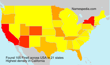Surname Finell in USA