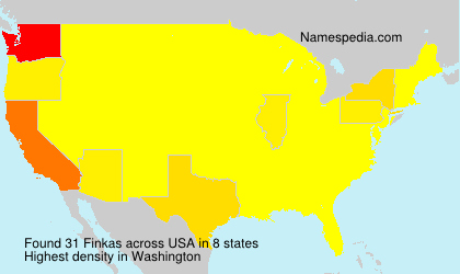 Surname Finkas in USA