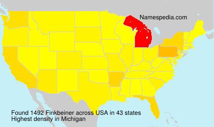Familiennamen Finkbeiner - USA