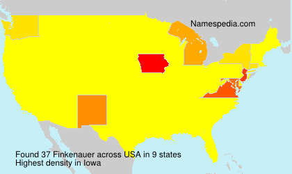 Surname Finkenauer in USA