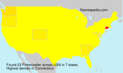Surname Finkenzeller in USA