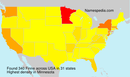 Surname Finne in USA
