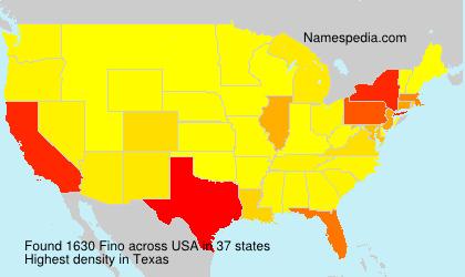 Surname Fino in USA