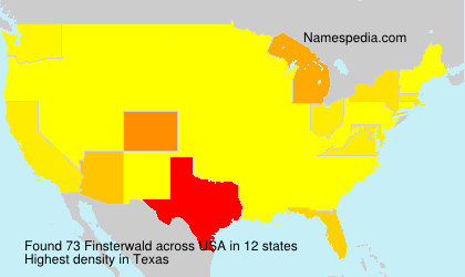 Surname Finsterwald in USA