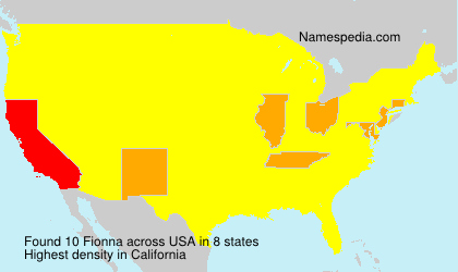 Surname Fionna in USA