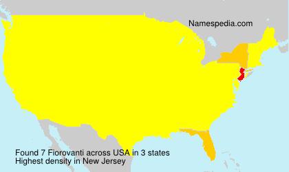 Familiennamen Fiorovanti - USA