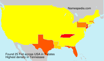 Surname Fiot in USA