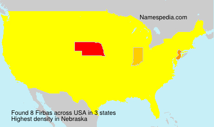 Surname Firbas in USA
