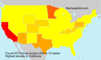 Surname Firchow in USA