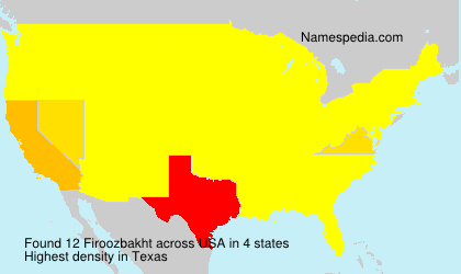 Surname Firoozbakht in USA