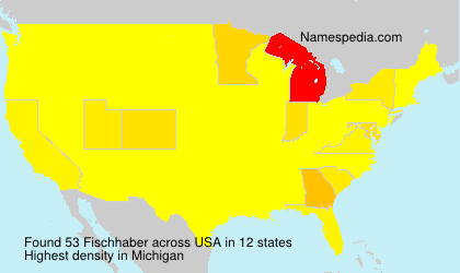 Surname Fischhaber in USA
