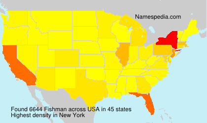 Surname Fishman in USA