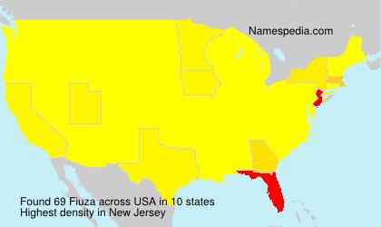 Surname Fiuza in USA