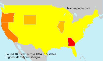 Familiennamen Fivaz - USA