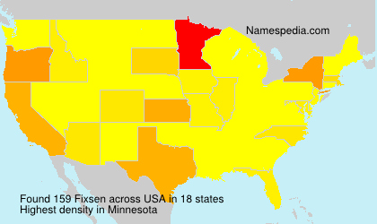 Surname Fixsen in USA
